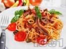 Рецепта Спагети Путанеска с доматен сос, филета аншоа и каперси